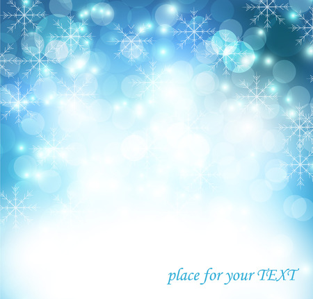background: Christmas and New Year greeting card