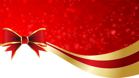 bows: Christmas and New Year greeting card