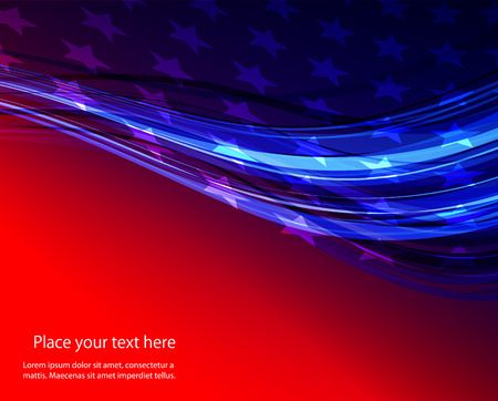 Abstract image of the American flag USA star