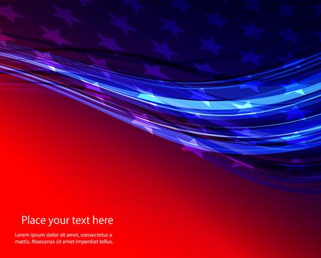 Abstract immagine della bandiera americana USA stelle Vettoriali