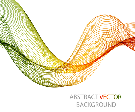 abstract shape: Abstract colorful background with wave, illustration, vector