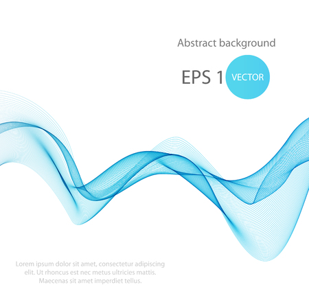 cover concept: Abstract colorful background with wave, illustration, vector