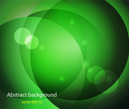 green and black: bokeh abstract light background Vector illustration abstract Illustration