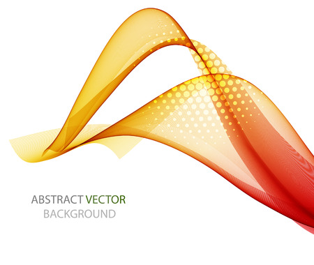 Abstract colorful background with wave, vector