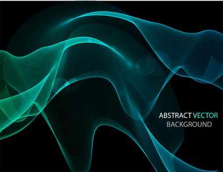 抽象的なカラフルな背景の波と、ベクトル