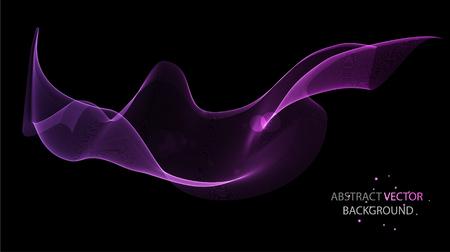 波、ベクトルと抽象カラフルな背景  イラスト・ベクター素材