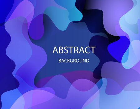 Abstract poster. Color layers, curved designs for your project. EPS 10