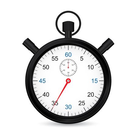 cronometro: Cronómetro metálicos Negro Vectores