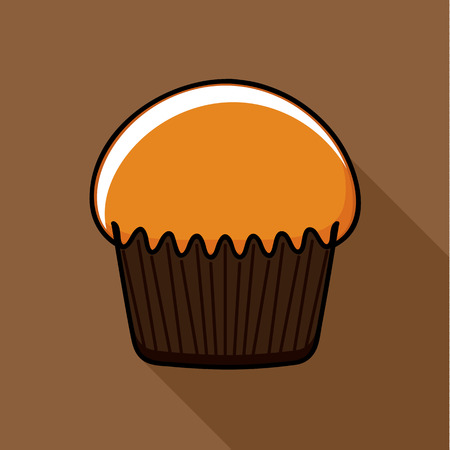 tasty: Tasty Muffin. Flat icon design.
