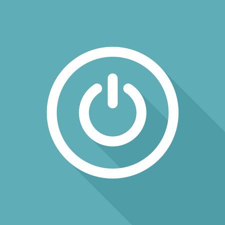 Power icon. Start on off button. Flat icon design.