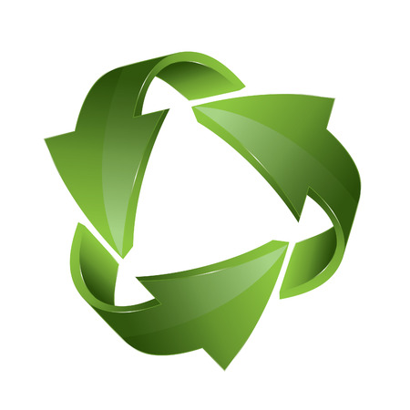 three dimensional: Three dimensional arrows, recycle business concept Illustration