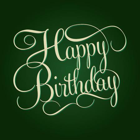 marco cumpleaños: Letras CUMPLEAÑOS FELIZ mano, caligrafía hecha a mano