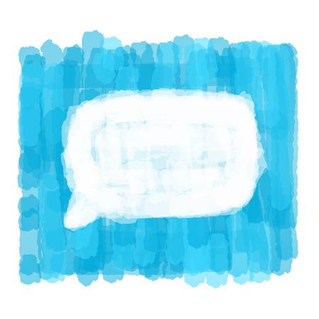 dialog bubble: Hand drawn watercolor dialog bubble