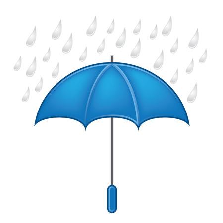 weather symbols: Weather symbols vector set, umbrella with rain Illustration