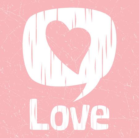 Liefde retro poster, liefhebbers Valentijn concept