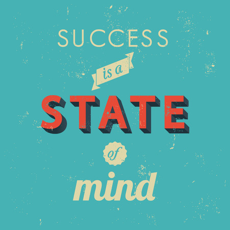 Inspirational quotes in retro style, success concept