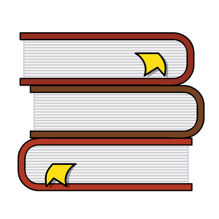 favorite number: Pile of books with page markers