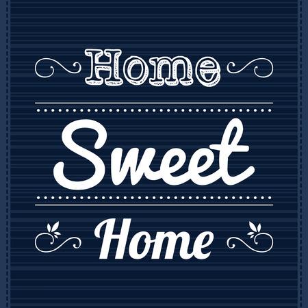 slogan: Dise�o del marco de plantilla decorativa con lema Home Sweet Home