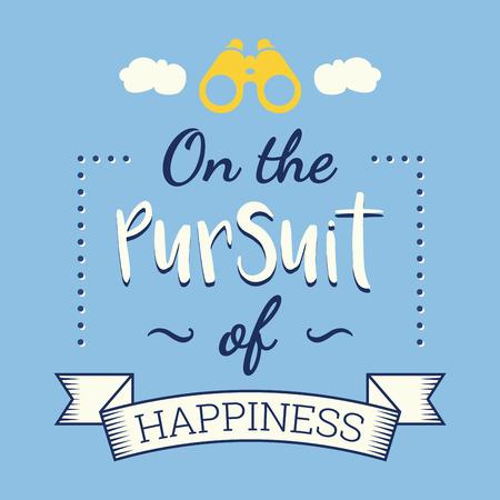 alegria: La búsqueda de la felicidad, cartel retro Vectores