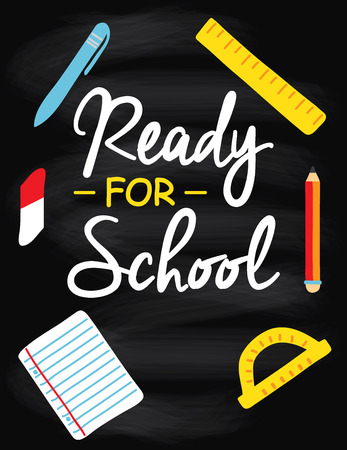 study concept: Study concept. Back to school, retro poster.