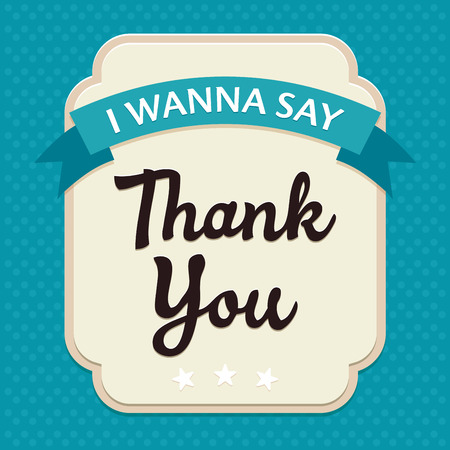Template frame design for Thank YOU card