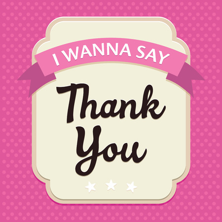 congratulation: Template frame design for Thank YOU card