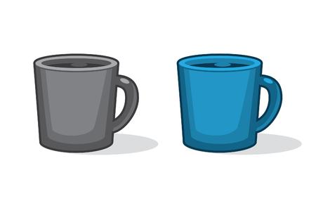 mug of coffee: Cups of fresh coffee or tea