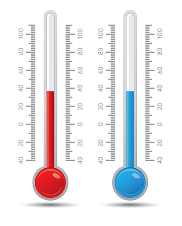 glass thermometer: Thermometer with scale measuring heat and cold