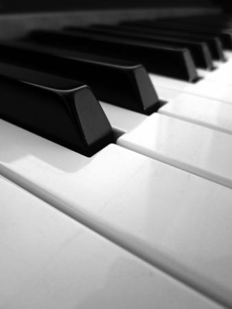 piano keys: Piano keys close up