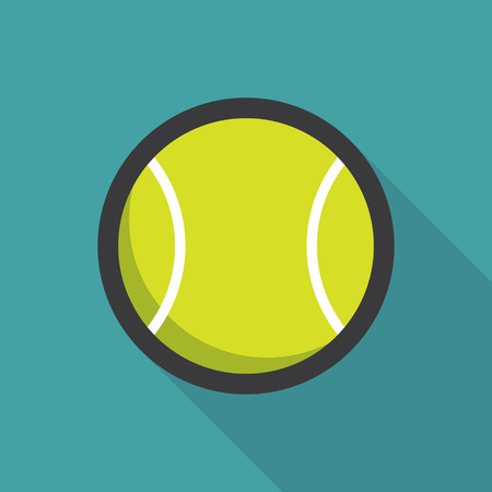 ball game: Tennis ball retro poster, sport and recreation concept