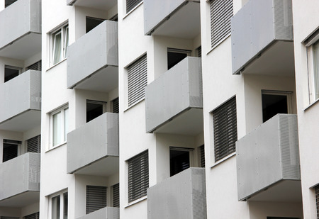 repetition: Building balconies in repetition, architectural background