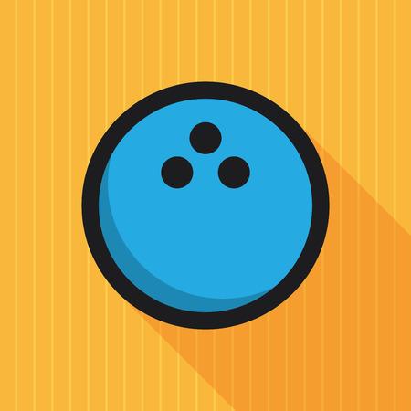 lane: Bowling ball on bowling lane, retro poster