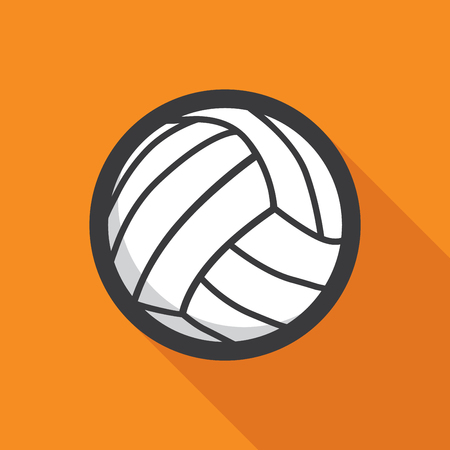 volleyball team: Volleyball ball retro poster, sport and recreation concept Illustration