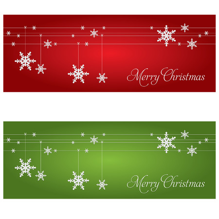 christmas banner: Festive banners. Christmas and New Year theme. Illustration