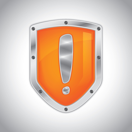health and safety: Security alert shield symbol icon