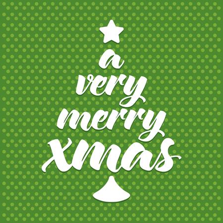 tree line: Christmas greeting card, seasonal festive concept