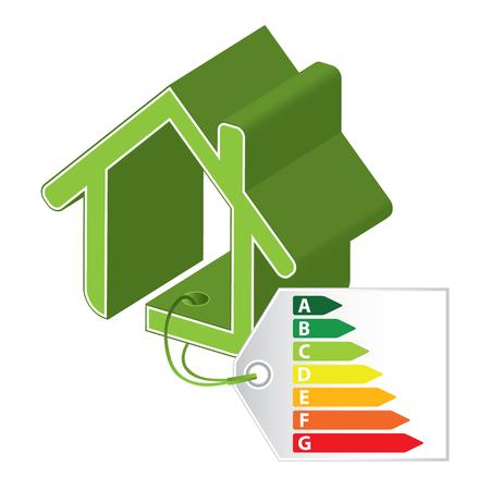 procedure: Energy saving certificate concept, green building concept Illustration