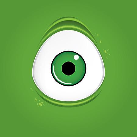 ugly gesture ugly gesture: Big green monster eye Illustration