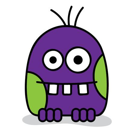 ugly gesture ugly gesture: Little scary violet monster