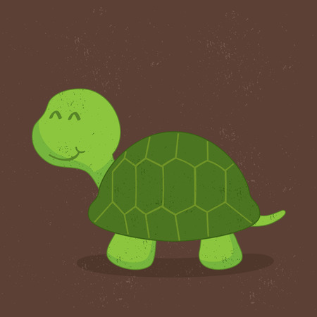 green turtle: Cute green turtle Illustration