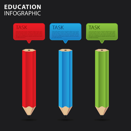 Education info graphic, study concept