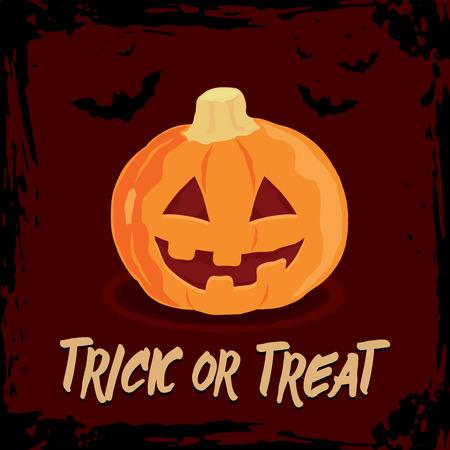 Great pumpkin. Halloween greeting card. Illustration