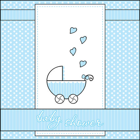 Decorative template frame design for baby arrival, baby shower concept