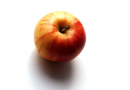 Organic red apple, healthy lifestyle concept, food photography