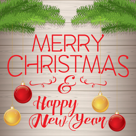 Merry Christmas and a Happy New Year, Christmas greeting card