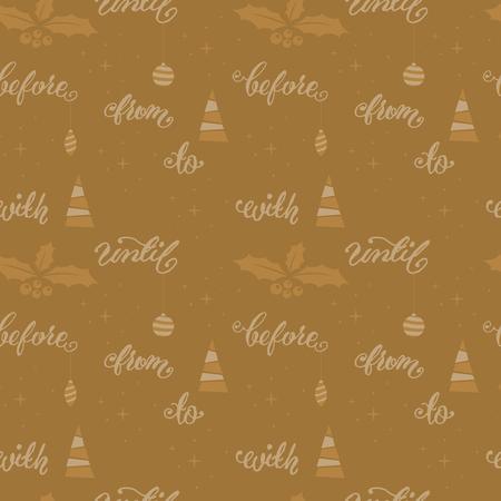 Seamless festive Christmas golden pattern Illustration