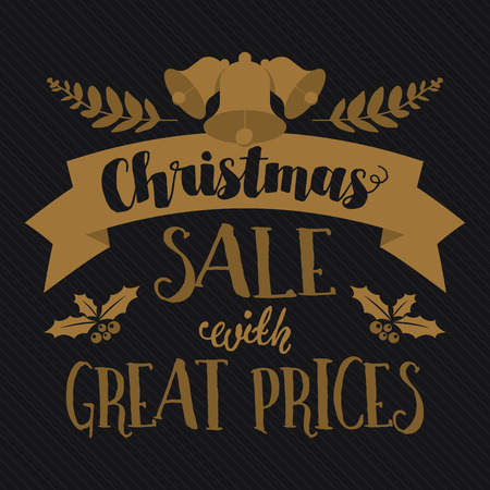 Christmas and seasonal sale and discounts. Retail banner and poster.