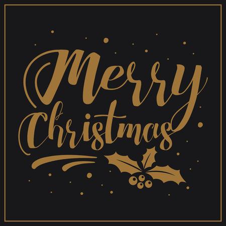 Merry Christmas. Festive Christmas greeting card.