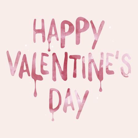 Artistic Valentine's Day card Ilustrace