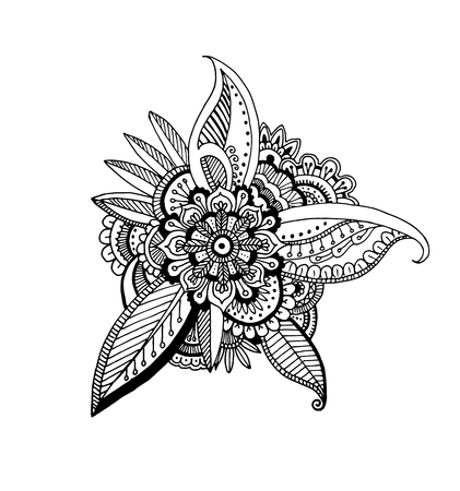 Decorative hand drawn Mandala style ornaments